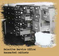 camden28: selective service  office - ransacked cabinets